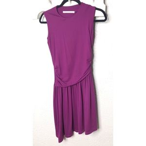 Susana Monaco eggplant asymmetrical dress XS